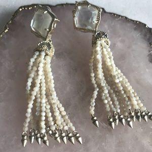 Kendra Scott Jewelry - Kendra Scott Misha Earrings- Ivory Mother of Pearl